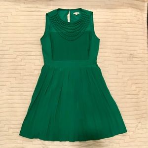 Shoshanna Green Silk Dress Sz 8